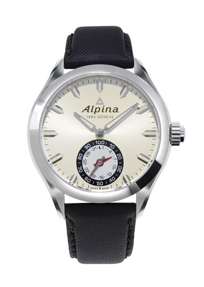 Details about Alpina Horological Smartwatch Mens Calendar Quartz Light Silver Dial AL 285S5AQ6